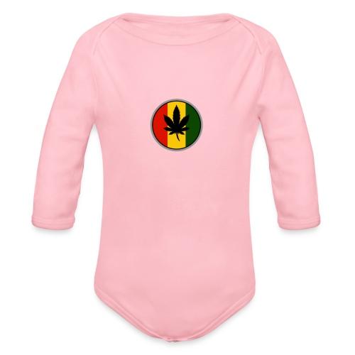 weed logo - Langærmet babybody, økologisk bomuld