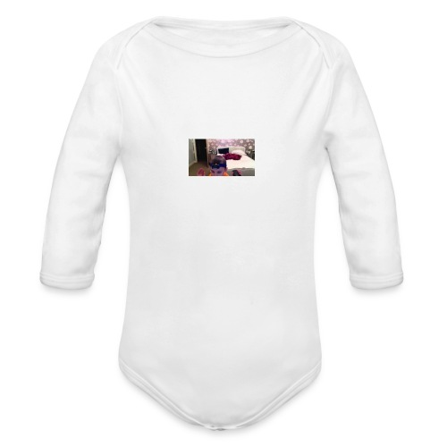Gabes monster of doom - Organic Longsleeve Baby Bodysuit