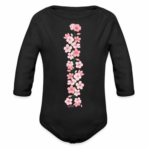 yuka cherry blossom - Baby Bio-Langarm-Body