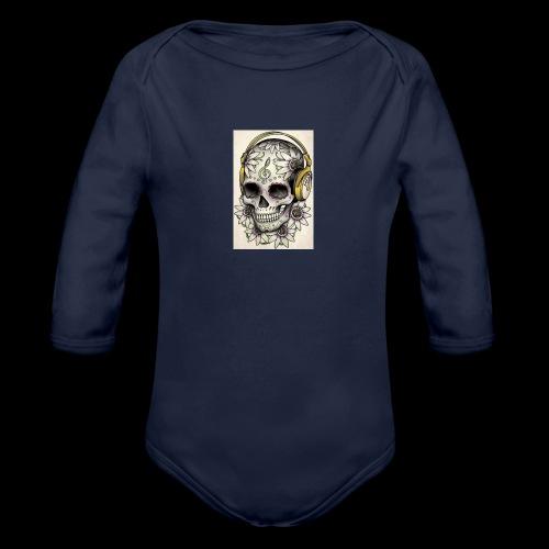 ab7a6a89ac2078fff2dd245fb15abaaf skull tattoo des - Baby bio-rompertje met lange mouwen