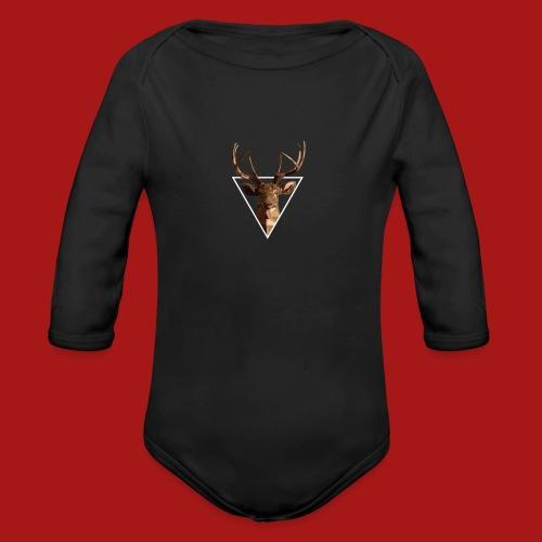 Deer-Head GOLD - Langærmet babybody, økologisk bomuld