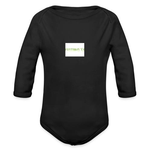 deathnumtv - Organic Longsleeve Baby Bodysuit