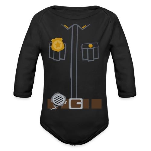 Police Tee Black edition - Organic Longsleeve Baby Bodysuit