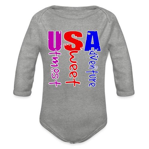 USA-Utmost Sweet Adventure - Body Bébé bio manches longues