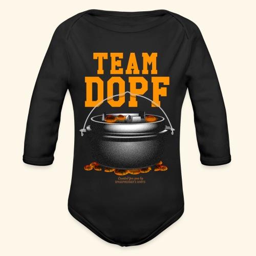 Dutch Oven T-Shirt Team Dopf - Baby Bio-Langarm-Body