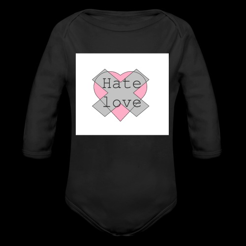 Hate love - Body orgánico de manga larga para bebé