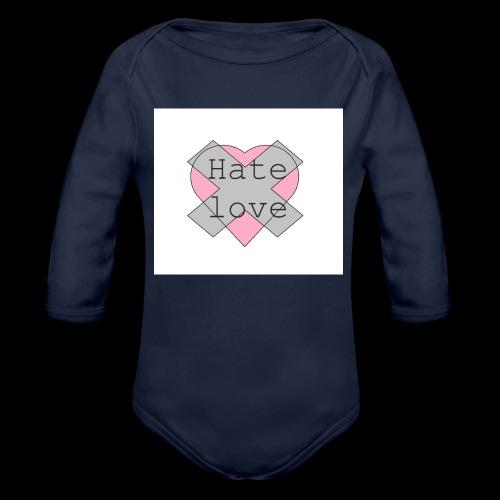 Hate love - Body orgánico de manga larga para bebé