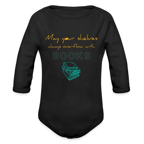 0037 Do the bookshelves always like books? - Organic Longsleeve Baby Bodysuit