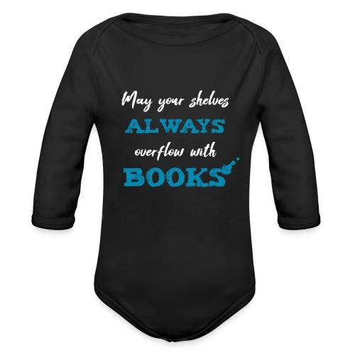 0038 author   Writer   Book blogger   reader - Organic Longsleeve Baby Bodysuit