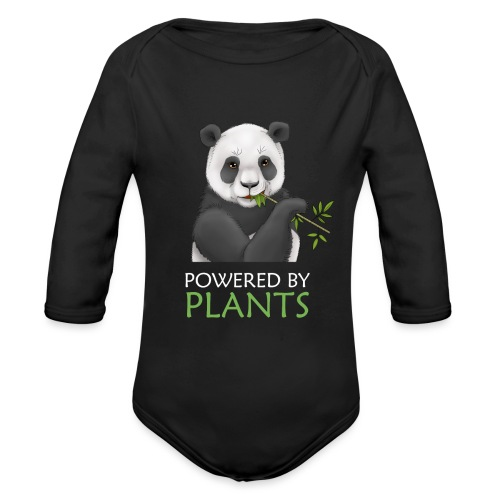 Plantbased Panda - Ekologisk långärmad babybody
