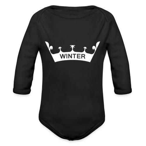 Krone Winter - Baby Bio-Langarm-Body