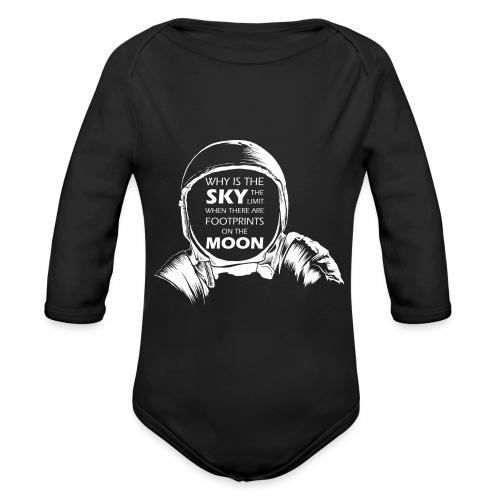 Astronaut - Footprints on the Moon - Baby Bio-Langarm-Body