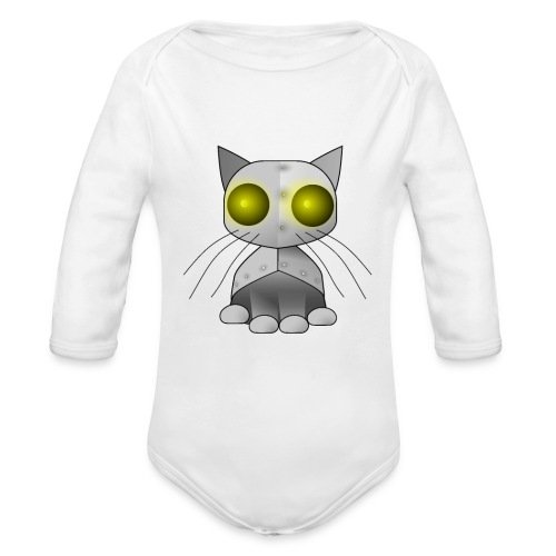 robotkatt - Organic Longsleeve Baby Bodysuit