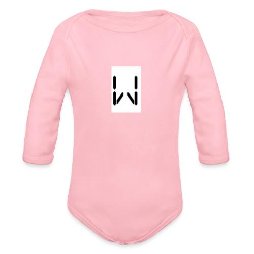 W1ll first logo - Organic Longsleeve Baby Bodysuit