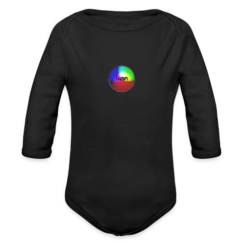 Ivan plays - Organic Longsleeve Baby Bodysuit