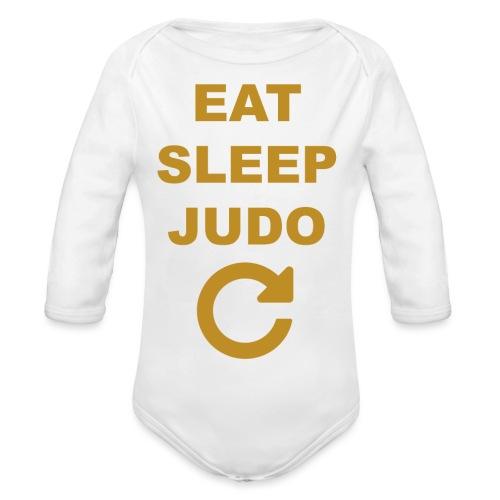 Eat sleep Judo repeat - Ekologiczne body niemowlęce z długim rękawem