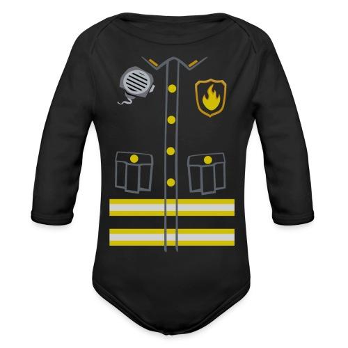 Kids Fireman Costume - Dark edition - Organic Longsleeve Baby Bodysuit