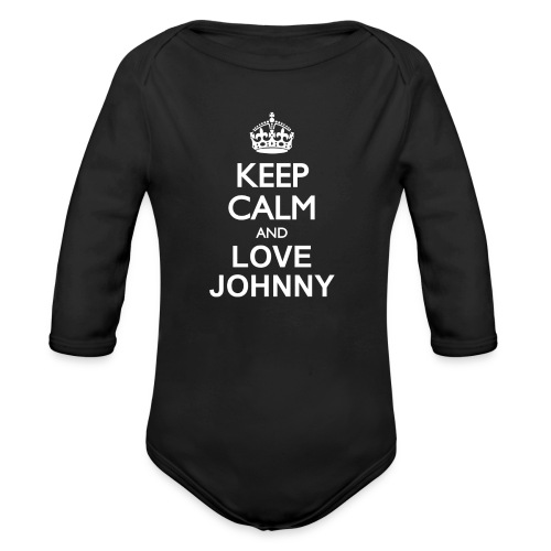 keep calm and love Johnny blanc - Body Bébé bio manches longues