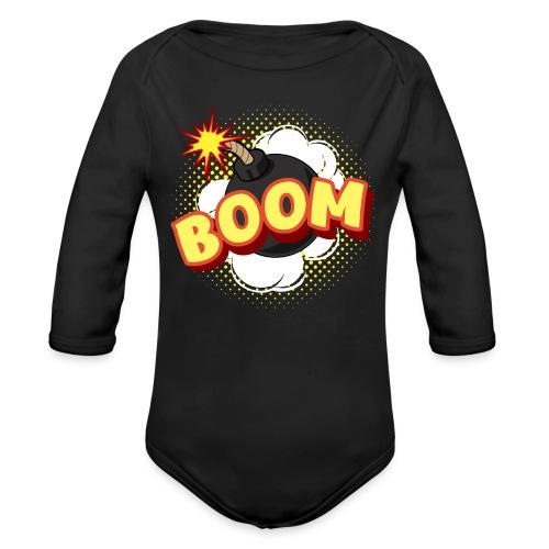 Comic Boom Bombe schwanger Geschenk Babybauch - Baby Bio-Langarm-Body