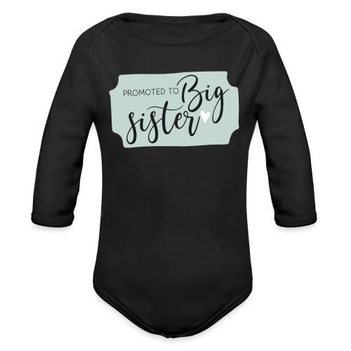 Promoted to big sister - Baby bio-rompertje met lange mouwen