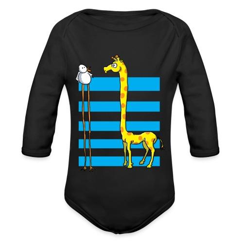 La girafe et l'échassier - Body Bébé bio manches longues