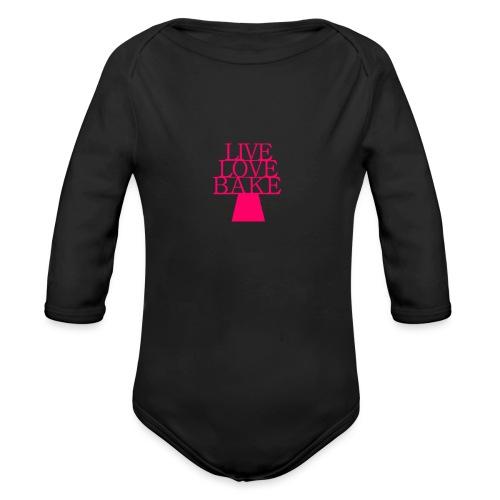 LiveLoveBake2 - Langærmet babybody, økologisk bomuld