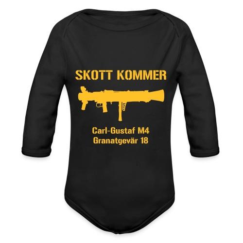 Skott Kommer CGM4 - Ekologisk långärmad babybody