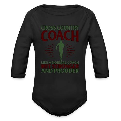 Cross Country Coach Gift Cross Country Coach Like - Organic Longsleeve Baby Bodysuit