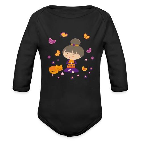 Happy Meitli - Yoga und Meditation - Baby Bio-Langarm-Body