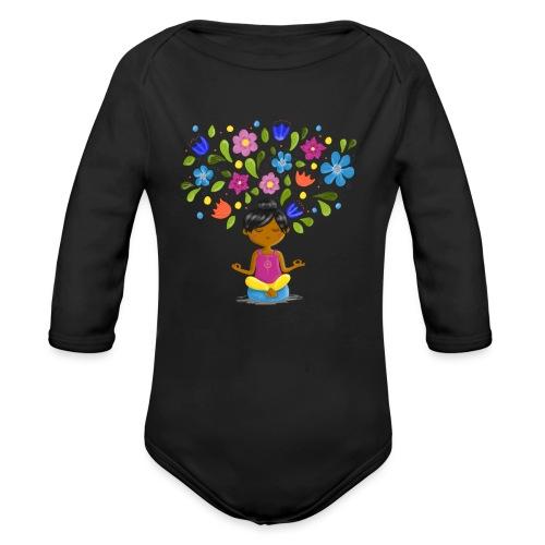 Meditation - Gedanken formen Deine Welt - Baby Bio-Langarm-Body