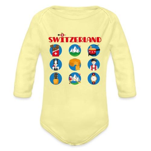 Switzerland - Baby Bio-Langarm-Body