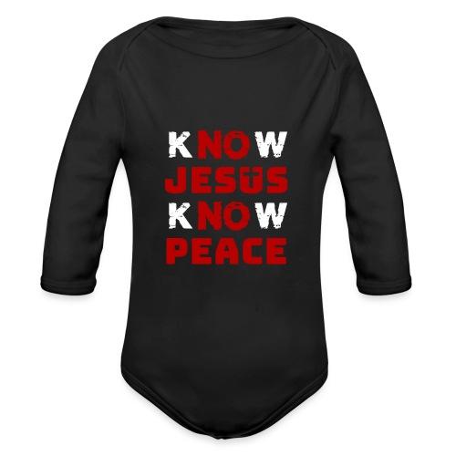 Know Jesus Know Peace (Classic) - Baby Bio-Langarm-Body