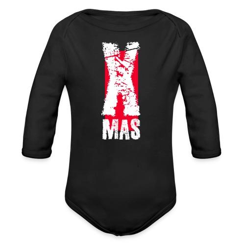 X Mas Meery Christmas Weihnachten Geschenk IDee - Baby Bio-Langarm-Body