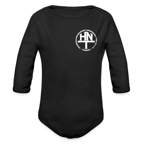 hnt logo vector weiss - Baby Bio-Langarm-Body