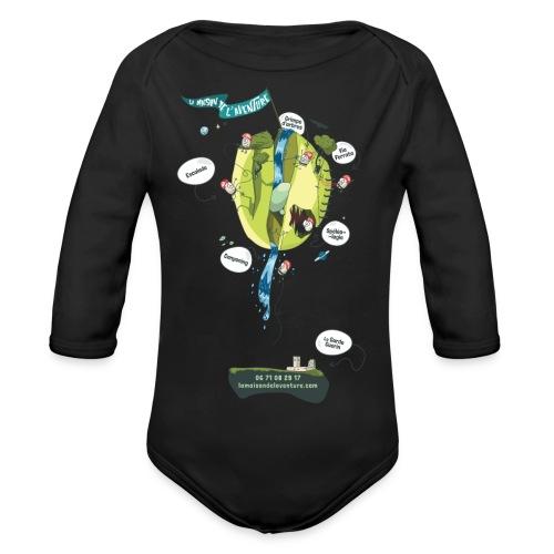 T-shirt Maison de L'aventure - Body Bébé bio manches longues
