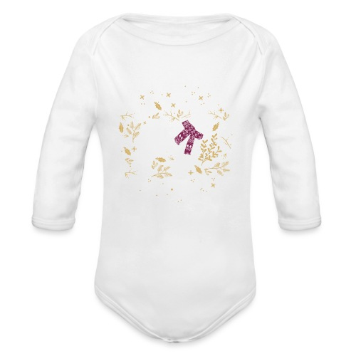 French Bulldog Winter - Baby Bio-Langarm-Body
