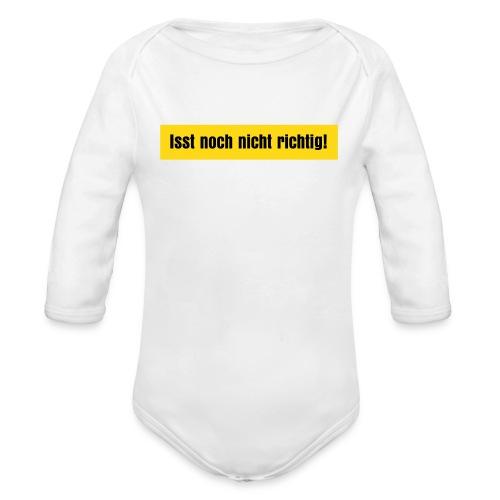 isst noch nicht richtig - Baby Bio-Langarm-Body