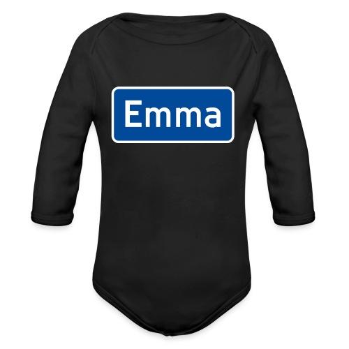 emma - Økologisk langermet baby-body