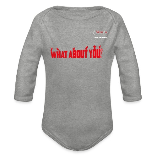 what about you red 25 years - Baby Bio-Langarm-Body