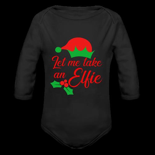 Weihnachten   Elf Mütze Weihnachtself Wortspiel - Baby Bio-Langarm-Body