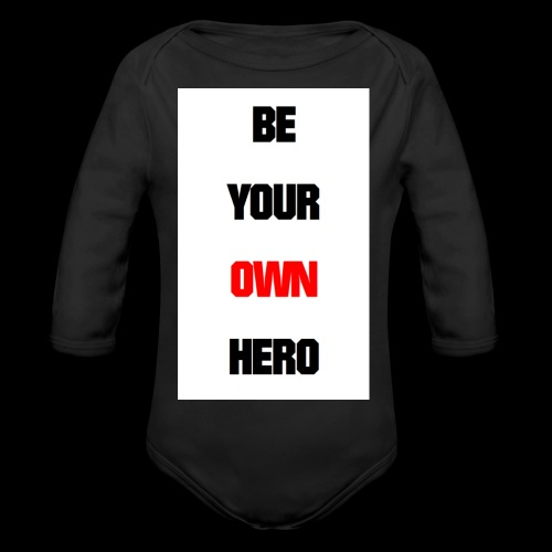BE YOUR OWN HERO - Baby Bio-Langarm-Body