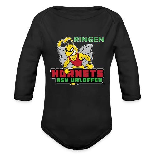 ASV_Hornets_dark - Baby Bio-Langarm-Body