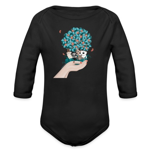 Zukunft - Save the Planet - Baby Bio-Langarm-Body