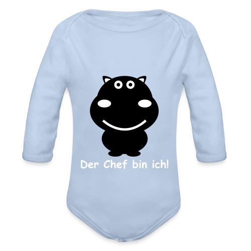Nilpferd 2f Der Chef eps - Baby Bio-Langarm-Body