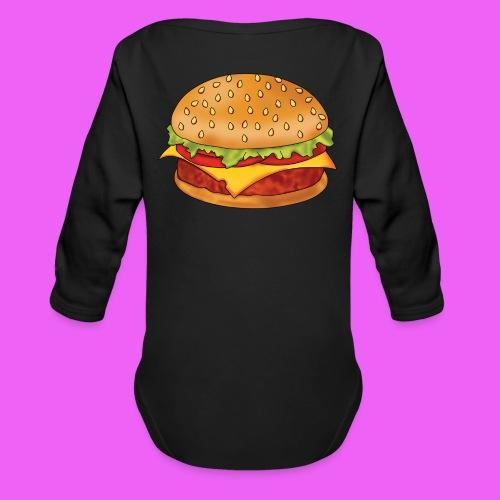 hamburguesa - Body orgánico de manga larga para bebé