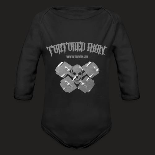skull - Organic Longsleeve Baby Bodysuit