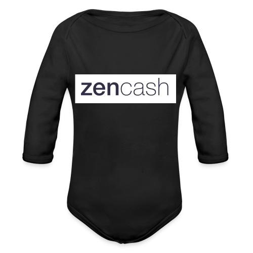 ZenCash CMYK_Horiz - Full - Organic Longsleeve Baby Bodysuit