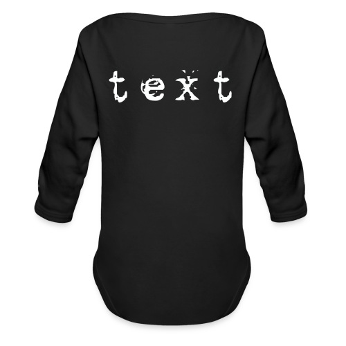 text - Baby Bio-Langarm-Body