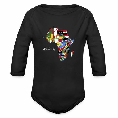 African unity - Body Bébé bio manches longues