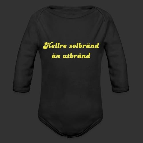 Hellre Solbränd - Ekologisk långärmad babybody